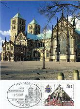 MK Maximumkarte Bund 1987 Papst Johannes Paul II in Münster Nr :  1320 MK_121