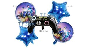 Epic Video Game controller Boys Party Decoration Helium Foil Birthday Balloons