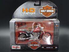 Motocicletas y quads de automodelismo y aeromodelismo color principal rojo Harley-Davidson de escala 1:18