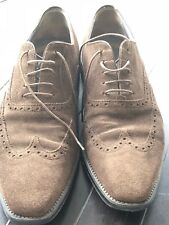 PreSANTONI Leather Suede Shoes Brown Men's 9/9.5