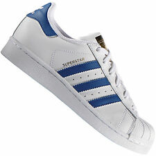 adidas Originals Superstar Foundation Weiß/Blau S74944 Damen-Sneaker Schuhe
