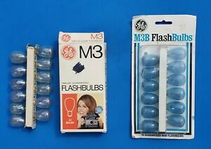 Vintage GE Flashbulbs - Set of 12 Bulbs for M3 and M3B : New Old Stock NOS