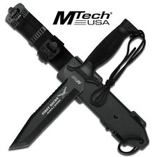 MTech USA Tanto Fixed Blade Knife MT-676TB Tactical Survival Hunting Knife