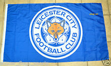 Leicester City Flag Banner 3x5 ft Foxes Blue England Premier Football Soccer