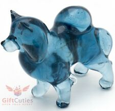Art Blown Glass Figurine of the Samoyed dog