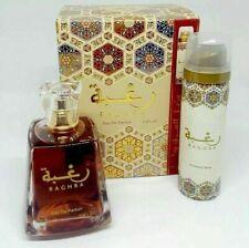 RAGHBA By Lattafa Unisex EDP Perfume 100 ml/3.4oz with Free Deodorant Inside