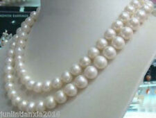 AAA 8-9mm Genuine Natural White Akoya Cultured Pearl Jewelry Necklace 50""