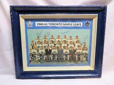 1960-61 Vintage Toronto Maple Leafs, Multi-SIGNED Framed Team Photo Display