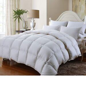 LUXURIOUS 1200TC BAFFLE BOX Siberian GOOSE DOWN Comforter TWIN FULL QUEEN KING