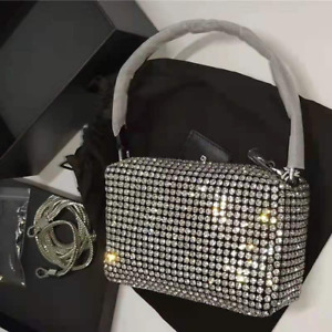 2021 Women's Bag Rhinestone Bag Glittering Diamond Full Mini Bag Top Hot