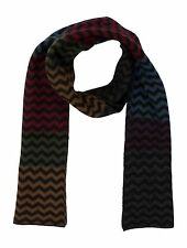 Paul Smith Zig Zag Scarf, Multicolour Gradients, Wool Angora Blend