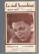 ANCIENNE PARTITION LE VIEL ACCORDEON SUZY ROY