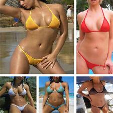 Women  Mesh Micro Bikini Set Swimwear Sexy Brazilian Sheer Swimsuit See Through
