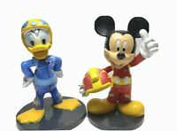 Disney Race Car Driver Figure Lot 2 Mickey Minnie Mouse &Donald Duck Cake Topper