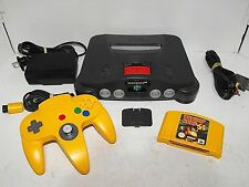 Nintendo 64 With Donkey Kong Game Expansion Pack All Tested In Great Condition