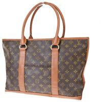 Authentic LOUIS VUITTON Weekend PM Shoulder Bag Monogram Leather M42425 35EY540