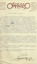 Lettera Autografo Titomanlio Manzella Fondatore Rivista Farfalle Catania 1924