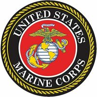 "United States Marine Corps Prismatic Decal Sticker 3/"" Holographic FAST USA SHIP"