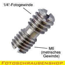 """Gewindeadapter 1/4""""-außen auf  M6-außen (Fotogewinde auf metrisches Gewinde)"""