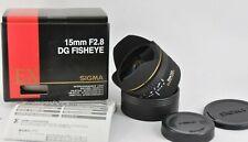 Sigma EX DG Canon 15mm f/2.8 DG EX Lens full frame FISHEYE boxed