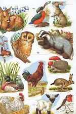 Victorian style decoupage scrap scrapbooking art projects Wild Animals deer owl