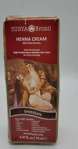 Surya Brasil Henna Cream - Chocolate 2.37 oz / 70 ml Sealed Damage Box