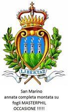 San Marino - 2009 - Annata completa nuova MNH - montata su fogli Masterphil