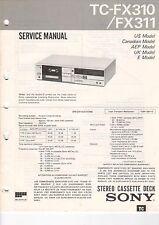 Sony-tc-fx310/fx311 - Service Manual grafico-b3184