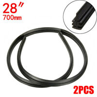 2PCS 28'' Auto Car Bus Rubber Universal Frameless Windshield Wiper Blade Refill