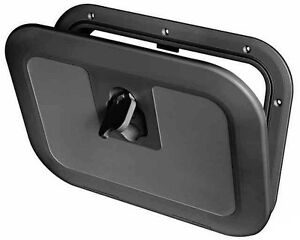 Boat Deck Inspection Access Hatch Black 380 x 280mm 180 Degree Opening Fishing