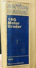 Genuine Caterpillar 16g Motor Road Grader Repair Manual 93u Amp Up Very Good Shape