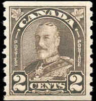 Canada Mint H 1931 2c F-VF Scott #182 King George V Arch Leaf Coil Stamp