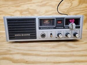 Vintage General Electric 40 Channel Home Base CB Radio Mdl 3-5869A No Mic