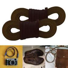 2pcs Cowhide Leather Shoelaces Shoestrings Boot Shoe Laces Cord 72 x 0.1inch