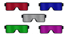 Rechargeable LED Glasses Light Up Sunglasses for Nightclub,Christmas,Party,Gifts
