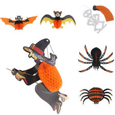Halloween Papel Araña Murciélago Specter Farol Colgante BRICOLAJE Exterior