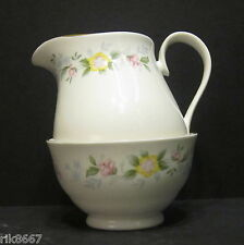 Alpine English Fine Bone China Cream Jug & Sugar Bowl By Milton China (Gold rim)