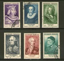 SERIE TIMBRES PERSONNAGES N° 1027-1032 OBLITERES TRES BEAUX