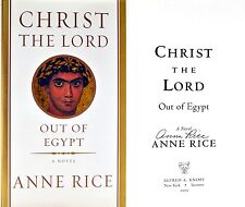 Anne Rice~Christ the Lord: Out of Egypt~SIGNED~~1st/1st HC + Photos ~ RARE!