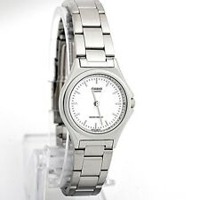 Casio LTP1130A-7A Ladies Stainless Steel Casual Dress Watch White Dial NEW