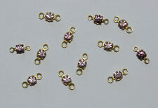 TINY RHINESTONE CONNECTOR BEAD DOLL JEWELRY LIGHT AMETHYST 2.5mm SWAROVSKI