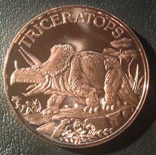 1 Oz Copper Round Triceratops