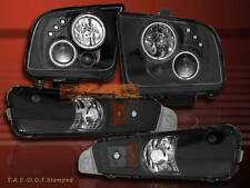 05-09 FORD MUSTANG PROJECTOR HEADLIGHTS BLACK GT CCFL TWIN HALO LED BUMPER LIGHT
