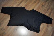 diseño Lagenlook Jersey Grande Refinado doble Black talla única, XXL, XXXL