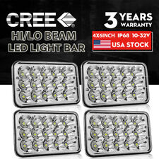 "4X DOT Approved 4x6"" 300W LED Headlights DRL for Peterbilt Kenworth Freightliner"