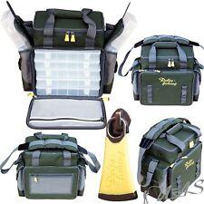 Delta Fishing XXL Angeltasche mit 7 Tackle Boxen Ködertasche Zubehör Tasche Kva