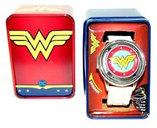 DC Wonder Woman Spinner Watch Silicone Band & Collectible Tin Brand New!!