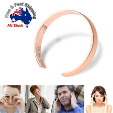Unisex Copper Magnetic Therapy Bracelet Wrist Bangle Relief Rheumatic Arthritis