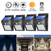 4X20 LED Solar Powered PIR Motion Sensor Light Outdoor Garden Security Lights UK