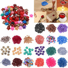 100Pcs Vintage Pentagram Sealing Wax Beads Envelope Card Wedding Seal Stamp Wax